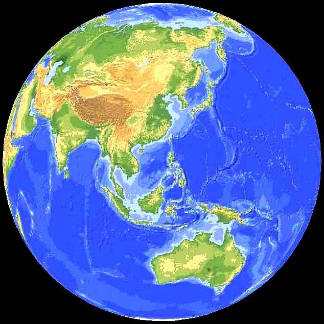 Карим Хайдаров - РОЖДЕНИЕ КАЙНОЗОЯ. Физическая карта ...: http://bourabai.ru/img/world00.htm
